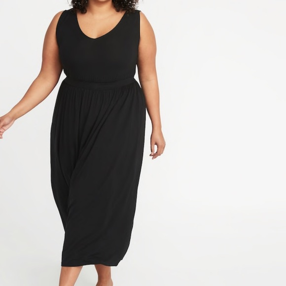Old Navy Waist-Defined Plus-Size Jersey Maxi